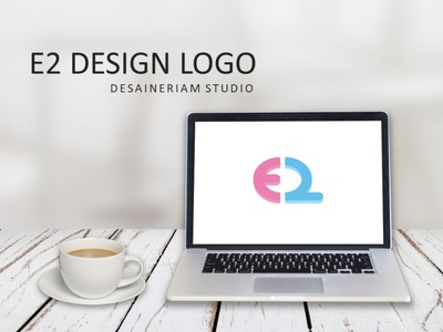 E2 LOGO 3d flat logo illustrator business design graphic design branding