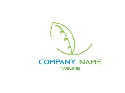 1 LEAF vector business flat illustrator illustration logo design graphic design branding leaves number1 leaf