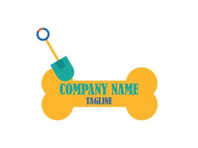 DOG BONE LOGO logo illustration business illustrator flat graphic design design branding dogs scope bone dog