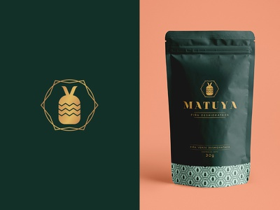 Matuya food design pattern pineapple fruit packaging logo icon design icon illustration branding