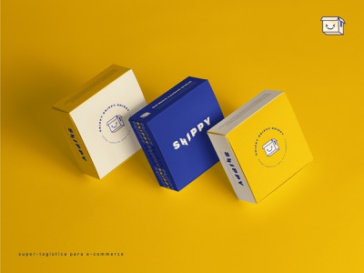 Shippy logistic brand box design box icon logo flat design icon icon design logo design brand identity branding design stationery packaging design packaging