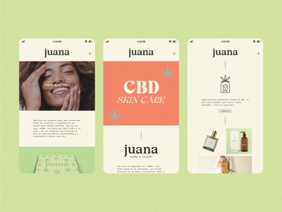 Juana illustration web app ux ui wordmark icon design logo logotypes packaging brand identity branding cannabis branding skincare cbd cannabis