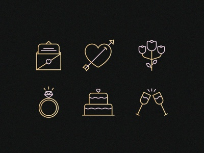 Wedding Icons web icon vector iconography pictogram illustrator illustration icon design icon wedding logo wedding icon wedding invitation wedding card wedding