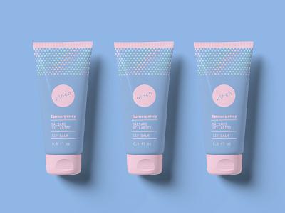 Lipmergency logo design blue mockup logo branding cosmetic packaging packaging