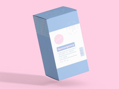 Lipmergency mockup box logodesign logo branding cosmetic packaging packaging