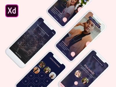 Little Pink Book - Celebrating the Power of Female Friendships ui design madewithxd adobexd