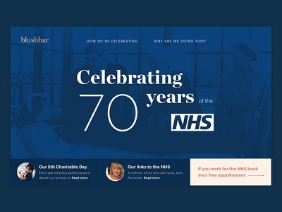 Celebrating 70 years of the NHS web design adobexd