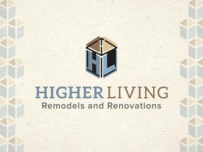 Higher Living Remodel Logo can you spot! hidden element branding logo remodeling logo
