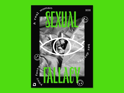 014 Sexual Fallacy poster poster design poster art poster a day design typography design process graphic design