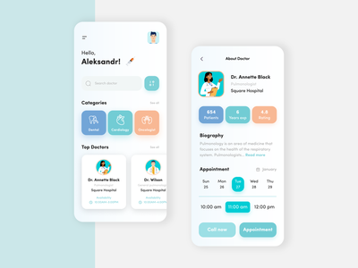 Doctor App design app schedules medic healthcare consultation app design design ui minimal medical app schedule app medical doctor appointment schedule doctor app doctor