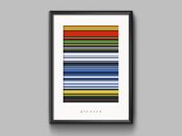 Color palette from art pixels