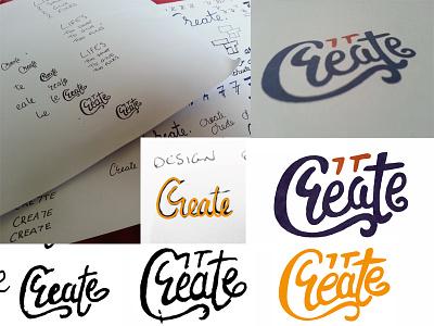 7tcreate logo design Process personal 7t 7 logotype text type create process design logo