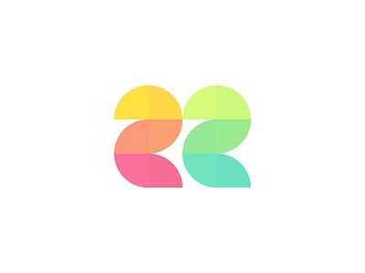 22nd Birthday! number birthday colors two twenty twentytwo 22