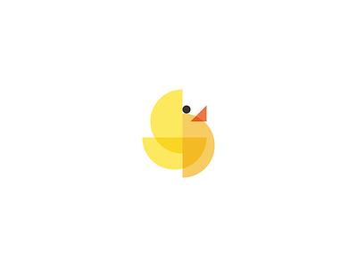 Duck orange yellow triangle circle half geometry geometric bird duck