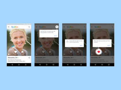 Encounters view & onboarding onboarding settings voting android
