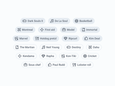 Interest iconography iconography categories interests icons