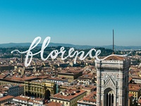 Adventure Italy | Florence - hand lettering series