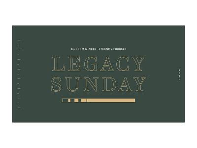 Legacy Sunday event branding typography