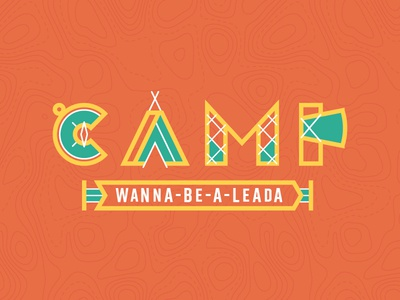 SB 17: Kids Camp branding conference compass kids topography typography summer camp camping
