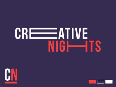 Creative Nights Branding event branding typography branding
