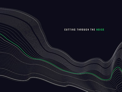Cut it out title series modern green digital waveform