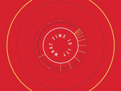 End Times Art clean modern san serif red time circles concentric end times