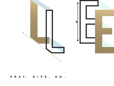 Legacy gold gradient event series typography
