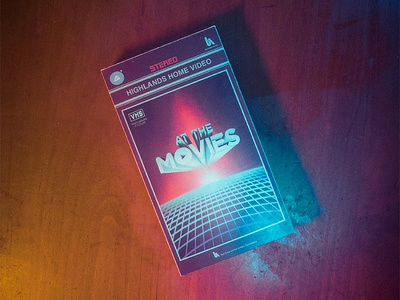 At the Movies Message Series Art VHS Sleeve 80s vhs movies