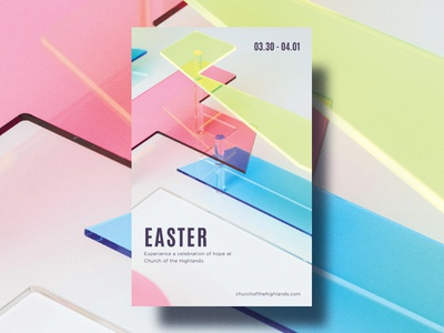 Easter Cafe Poster resurrection sunday neon glass e poster acrylic plexi typography easter