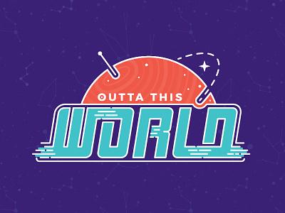 Summer Blast event branding kids stars planet space typography
