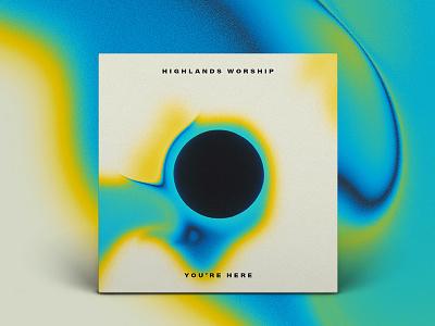You're Here EP music moon eclipse swirl album art