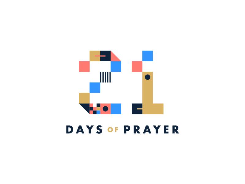2018-19 Prayer font pattern futura squares gold simple geometric prayer type logo modern pixel