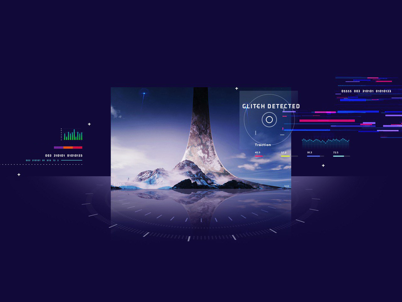 Glitch Detected visual design website ui design blockchain