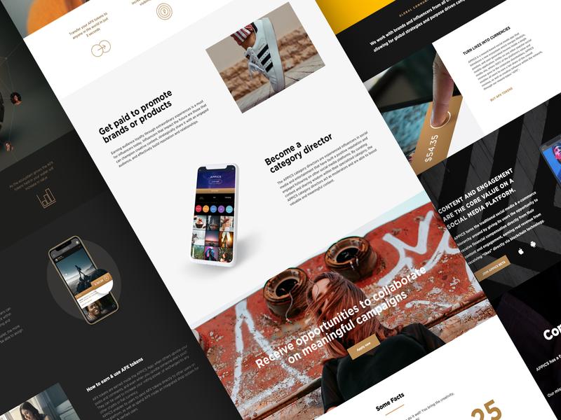 APPICS Website ui socialmedia decentralized blockchain screen design ui design website