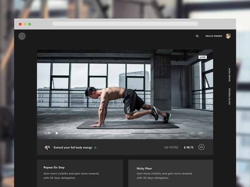 MM Platform Dark Theme ui video stream screen design design website ui design blockchain