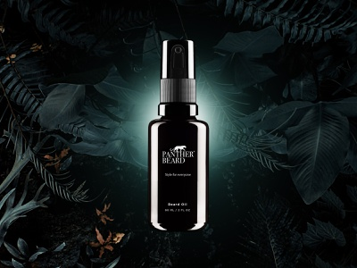 Panther Beard Oil naturel jungle branding brand design visual design product design