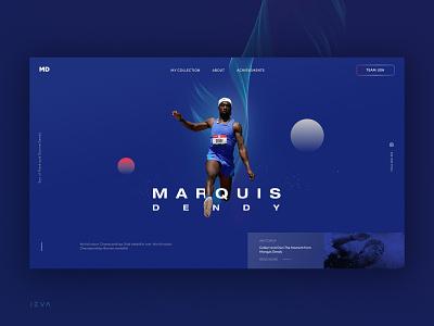 Marquis Dendy Website ui design screen design website web ui