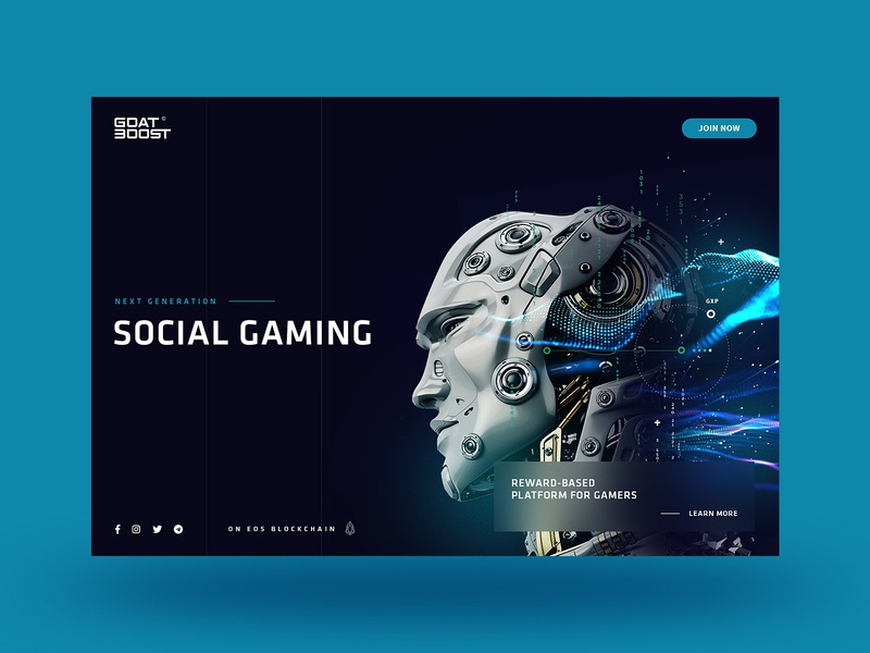 GOAT BOOST gaming blockchain visual design website ui design