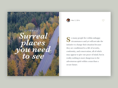Article card travel lettering minimal web site article tablet ux ui mobile