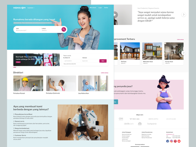 Sejasa Home page redesign landing design marketplace modern simple flatdesign home ux ui landing page