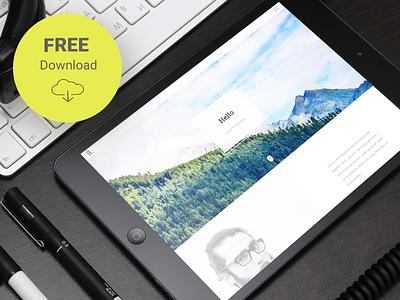 Bodo - Free Responsive HTML Personal Template vcard landing flat onepage responsive portfolio clean resume html free