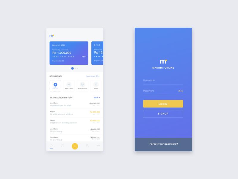 Mandiri Online App Concept Prototypr Prototyping