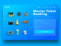 Movies ticket booking concept