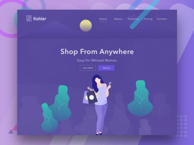 Shoping Landing Page