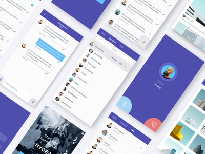 Chat App app phone call phone contact card ux ui