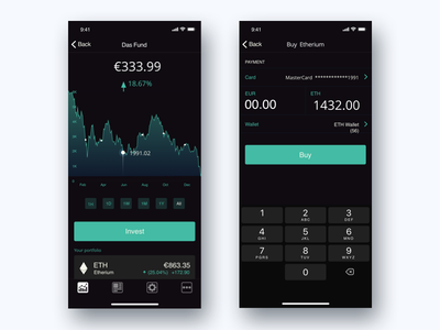 Cryptocurency App graph card app  design flat crypto app cryptocurency ios ux ui