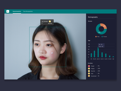 Facial Analytics Ai dashboard uiux ui web website face artificial intelligence ai
