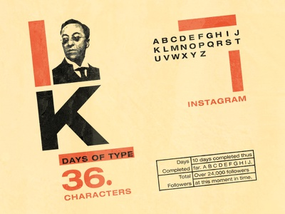 Kandinsky (36 Days of Type) herbert bayer texture bauhaus gestalt illustration typography type
