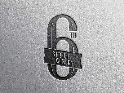 6th Street Winery Logo illustration handlettering alcohol wine typography type rebrand logomark brand logo