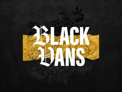 Black Vans Episode Cover vans typography podcasting podcast floral cover art blackletter